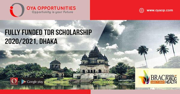 Fully Funded TDR Scholarship 2020/2021, Dhaka