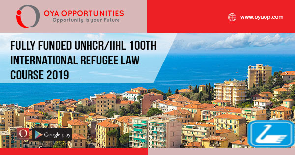 Fully Funded UNHCR/IIHL 100th International Refugee Law Course 2019