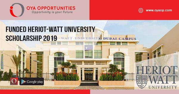 Funded Heriot-Watt University scholarship 2019