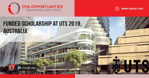 Funded Scholarship at UTS 2019, Australia