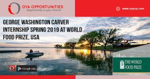 George Washington Carver Internship Spring 2019 at World Food Prize, USA