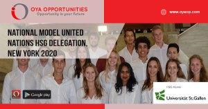 National Model United Nations HSG Delegation, New york