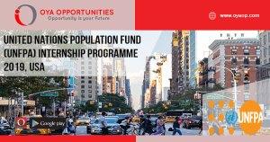 United Nations Population Fund (UNFPA) Internship Programme 2019, USA