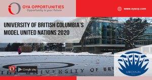 University of British Columbia's Model United Nations 2020