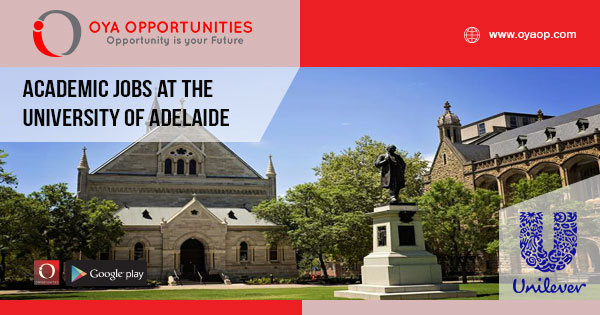 Academic jobs at the University of Adelaide