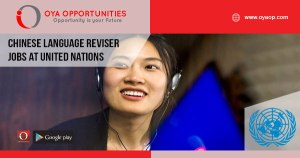 Chinese Language Reviser jobs at United Nations
