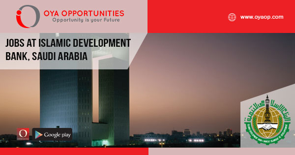 Jobs at Islamic Development Bank, Saudi Arabia