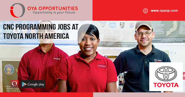 CNC Programming jobs at Toyota North America