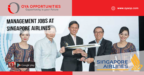 Management jobs at Singapore Airlines