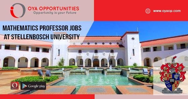 Mathematics Professor jobs at Stellenbosch University