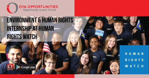 Environment & Human Rights Internship at Human Rights Watch