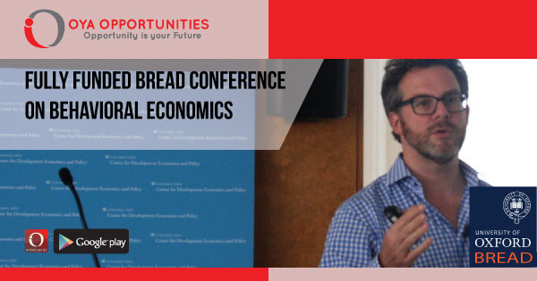 Fully Funded BREAD Conference on Behavioral Economics