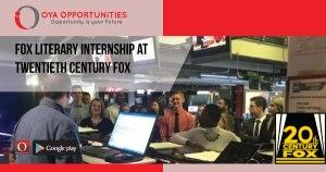 Fox Literary Internship at Twentieth Century Fox