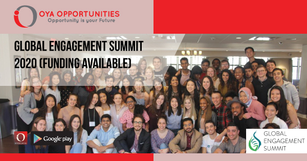 Global Engagement Summit 2020 (Funding Available)