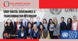 UNDP Digital Governance & Transformation Internship
