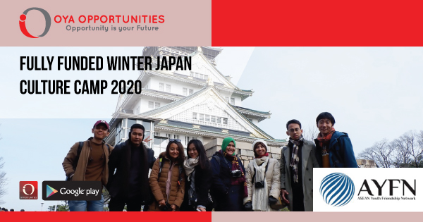 Fully Funded Winter Japan Culture Camp 2020