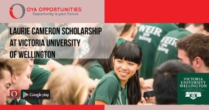 Laurie Cameron Scholarship at Victoria University of Wellington