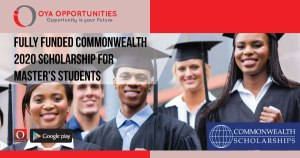 Fully Funded Commonwealth 2020 Scholarship for Master's Students
