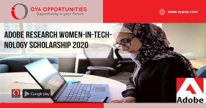 Adobe Research Women-in-Technology Scholarship 2020