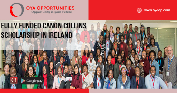 Fully Funded Canon Collins Scholarship in Ireland