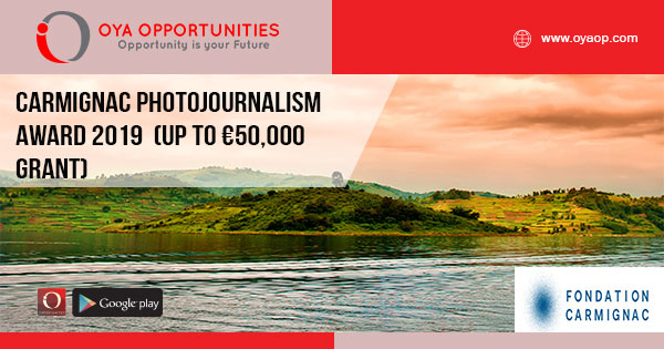 Carmignac Photojournalism Award 2019 (Up to €50,000 grant)