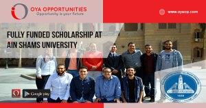 Fully Funded Scholarship at Ain Shams University
