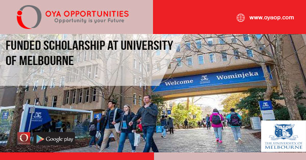 Funded Scholarship at University of Melbourne