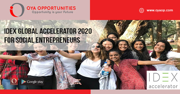 IDEX Global Accelerator 2020 for Social Entrepreneurs