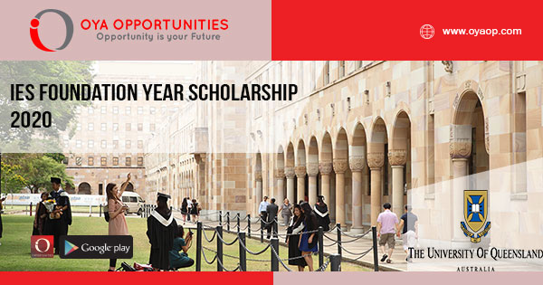 IES Foundation Year Scholarship 2020