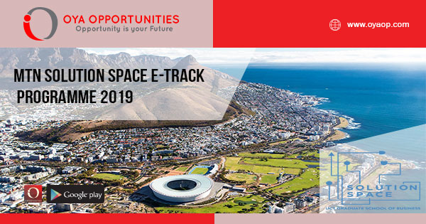MTN Solution Space e-Track Programme 2019