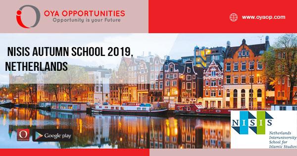 NISIS Autumn School 2019, Netherlands