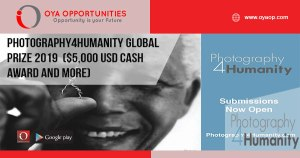 Photography4Humanity Global Prize 2019 ($5,000 USD cash award and more)