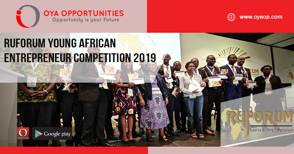 RUFORUM Young African Entrepreneur Competition 2019