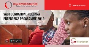 SAB Foundation Tholoana Enterprise Programme 2019