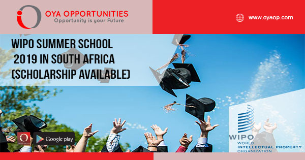 WIPO Summer School 2019 in South Africa (Scholarship Available)