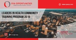 Leaders in Health Community Training Program 2019