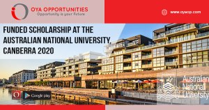 Funded Scholarship at The Australian National University, Canberra 2020