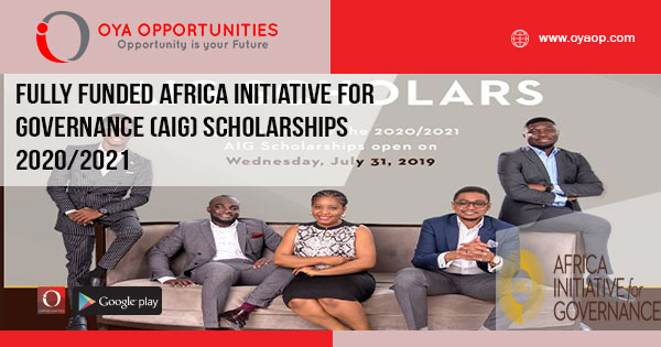 Fully Funded Africa Initiative for Governance (AIG) Scholarships 2020/2021