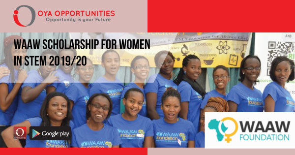 WAAW Scholarship for Women in STEM 2019/20