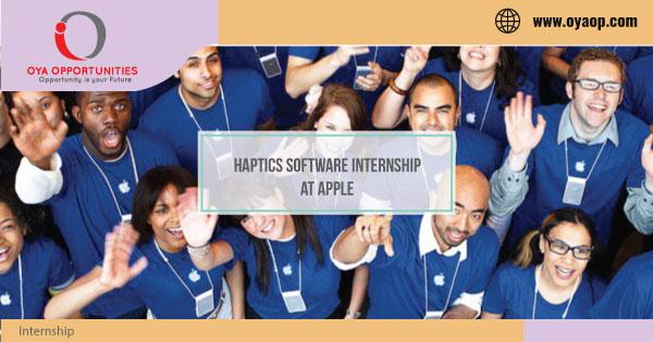 Haptics Software Internship at Apple