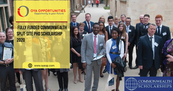 Fully Funded Commonwealth Split-site PhD Scholarship 2020