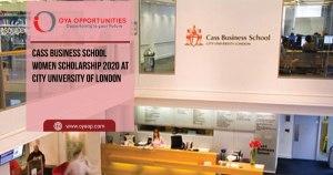 Cass Business School Women Scholarship 2020 at City University of London