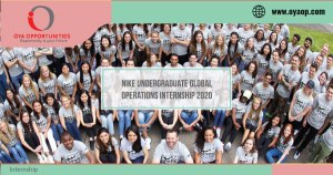 Nike Undergraduate Global Operations Internship 2020