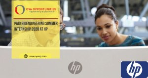 Paid Bioengineering Summer Internship 2020 at HP