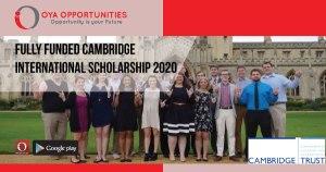 Fully Funded Cambridge International Scholarship 2020