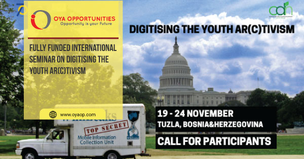Fully Funded International Seminar on Digitising the Youth Ar(c)tivism
