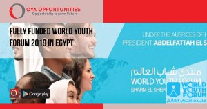 Fully Funded World Youth Forum 2019 in Egypt
