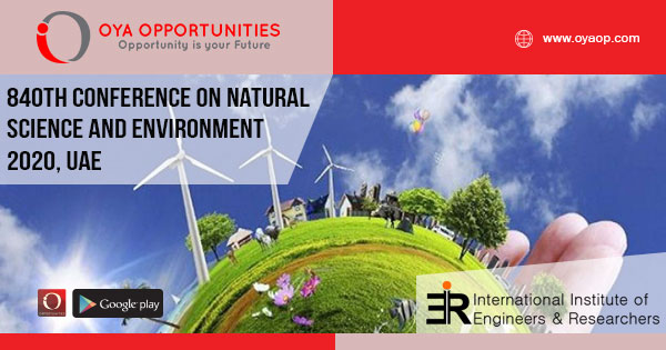 840th Conference on Natural Science and Environment, UAE