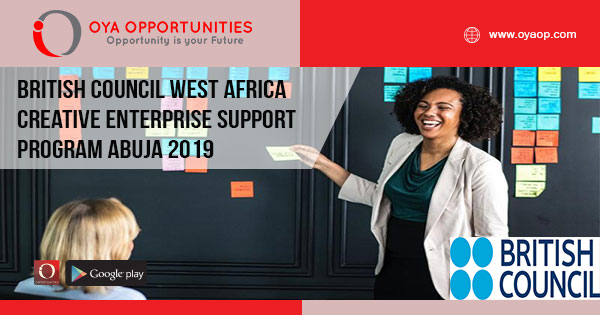 British Council West Africa Creative Enterprise Support Program Abuja 2019