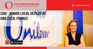 CDD - Junior Local Deploy at Unilever, France